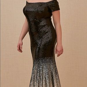 ISO Torrid Special Occasion Ombré Sequin Gown